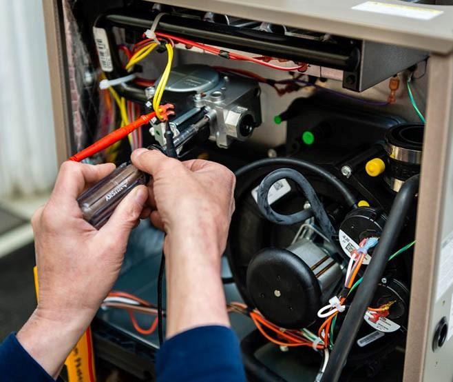 Heating system repair on a broken furnace in Waterford, MI