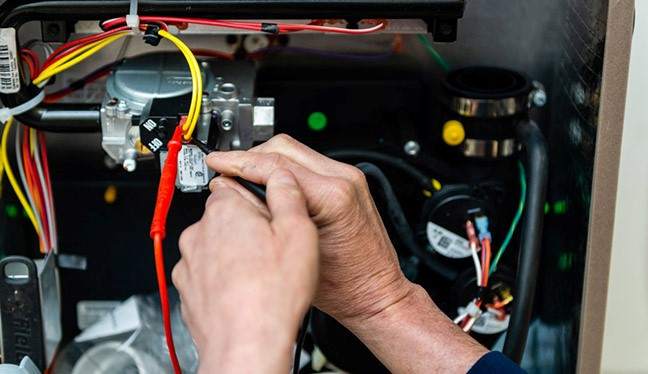Heating system maintenance tune up diagnostic on furnace in Waterford, MI