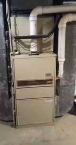 Old furnace in need of replacing in Waterford, MI home