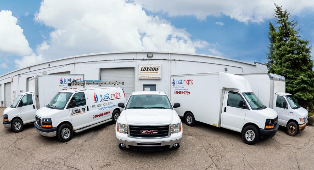 Fleet of HVAC vehicles in Waterford Township, MI